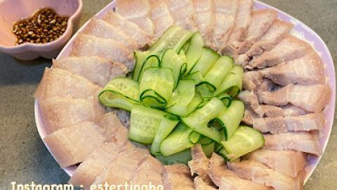 【自家煮】簡單易做。開胃涼拌菜  蒜泥白肉《附食譜》
