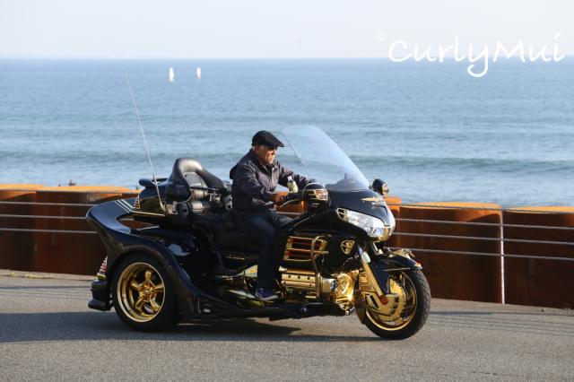 在等候的時間,其實也有很多好風光。不少遊客喜歡在這裡開Harley,轟轟轟的引人注意,很有型吧!