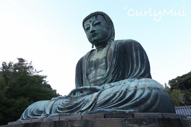 鎌倉大佛以青銅製造,保留著鎌倉時代的大佛風格。