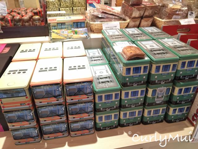 江之電曲奇,造型也是一流,鐵盒子還可以收藏。