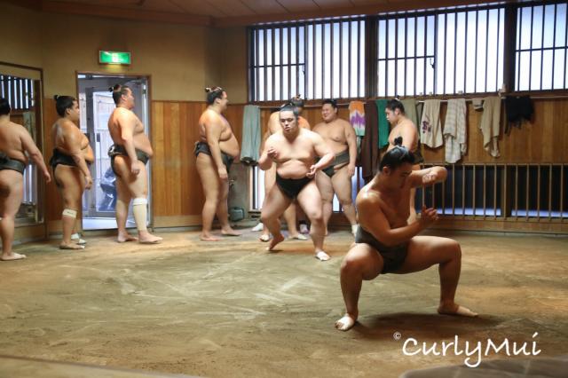 2) 練習步法:接著是排隊列陣,逐個練習步法。