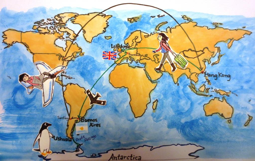 辞职去南极路线图