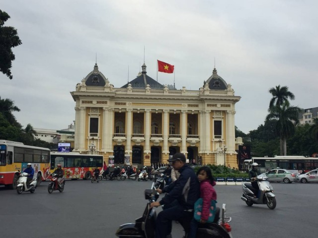 越南曾為法國殖民地,河內市中不難看見法式建築。