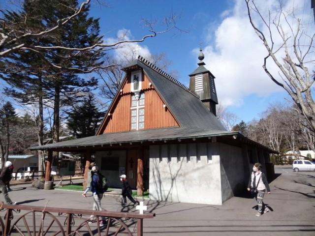 舊輕井澤銀座通聖保羅教堂1