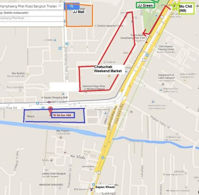 曼谷 地鐵 沿線 5天懶人包 購物 翟道翟週末市集