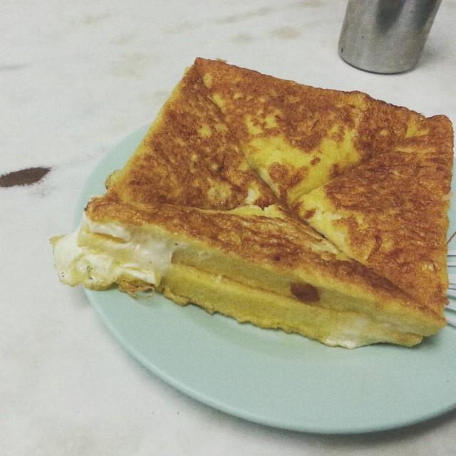 香港 深水埗 福榮街 維記咖啡粉麵  咖央西多士