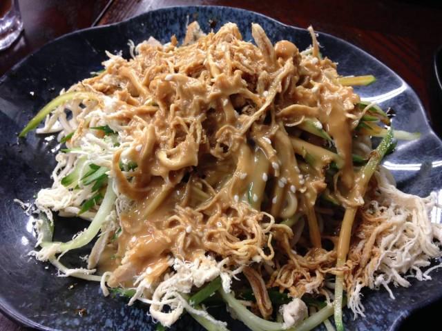 香港 銅鑼灣 登龍街 小店 辣 麵館皇 麻醬雞絲冷麵