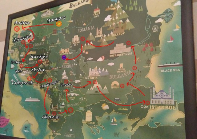 巴爾幹半島路線圖 - 實用篇