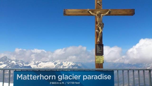 3883米上的十字架,感覺份外神聖