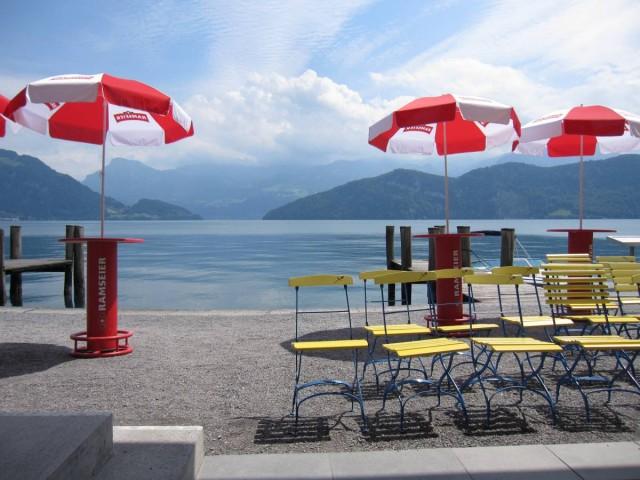 琉森湖畔的Weggis