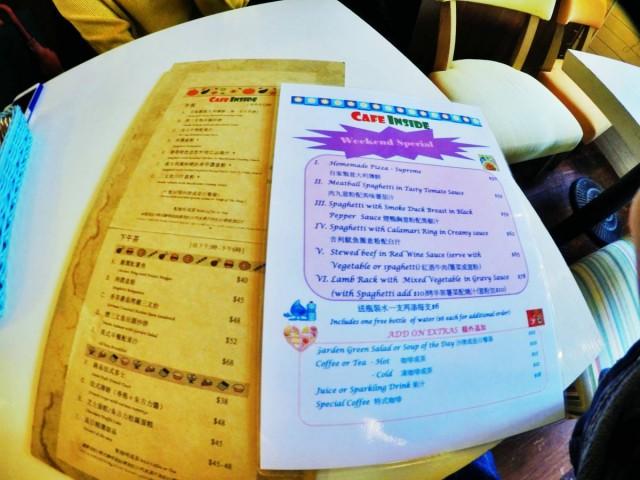 水街cafe-CAFE INSIDE,餐牌