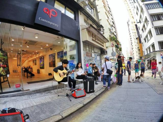 上環太平山街 band show