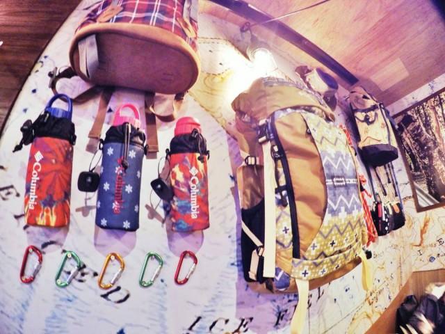 銅鑼灣 加寧街 期間 限定 wild cafe 主題 餐廳 gum jeng COLUMBIA 山系 backpack 產品 用品 裝備 日本版