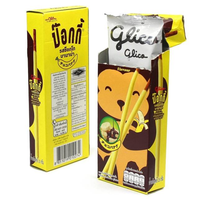 泰国 Pocky glico格力高 百奇猴子香蕉味饼干棒6