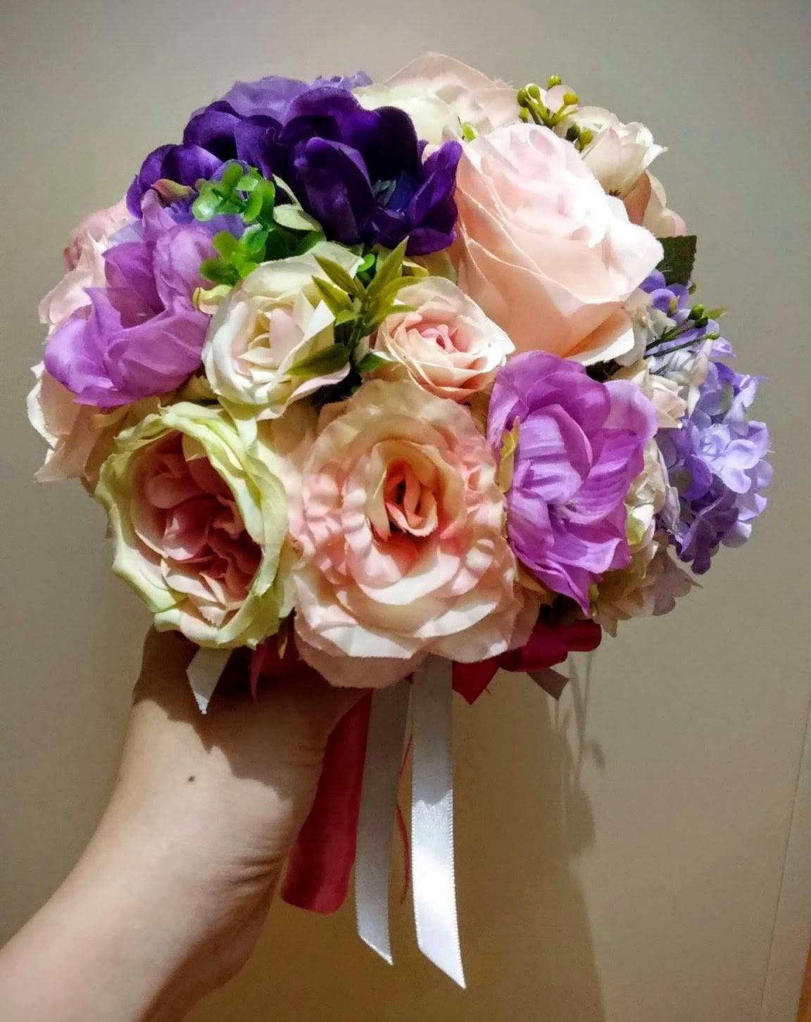 Bridal Bouquet Hk : Pinkish bridal bouquet elaine floral u