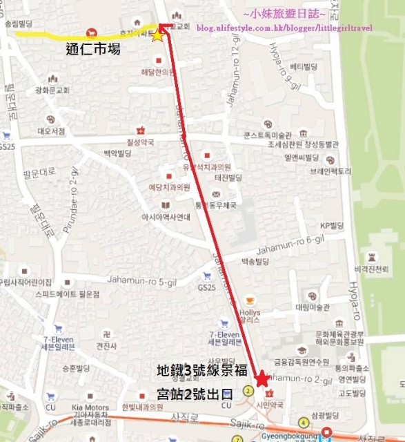 通仁市場Map
