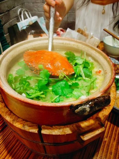 膏蟹潮汕砂鍋粥($150)