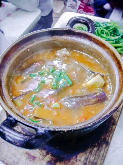 魚香茄子煲($47)