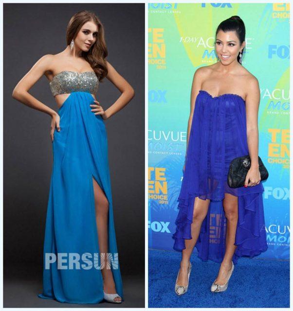 robe de cérémonie bleue