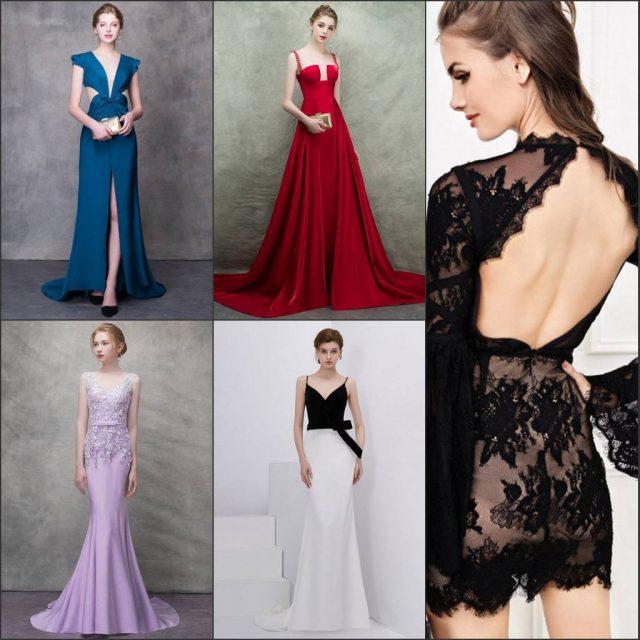 robe de soirée 2019 en rouge ,bleu ,lilas ,noire en Persun