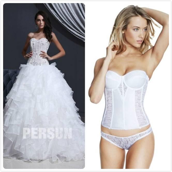 corset pour robe de mariée sans bretelles