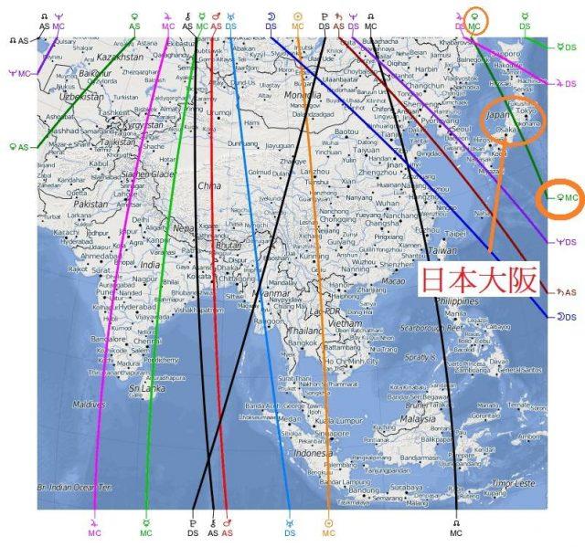 移民占星案例在日本